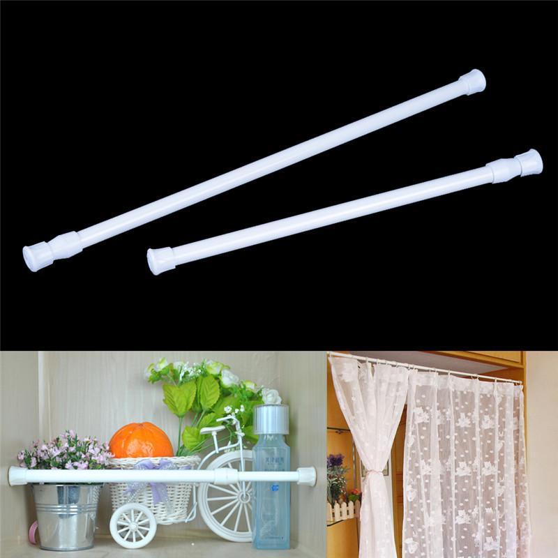 adjustable metal curtain rod tension bathroom curtain extensible rod hanger