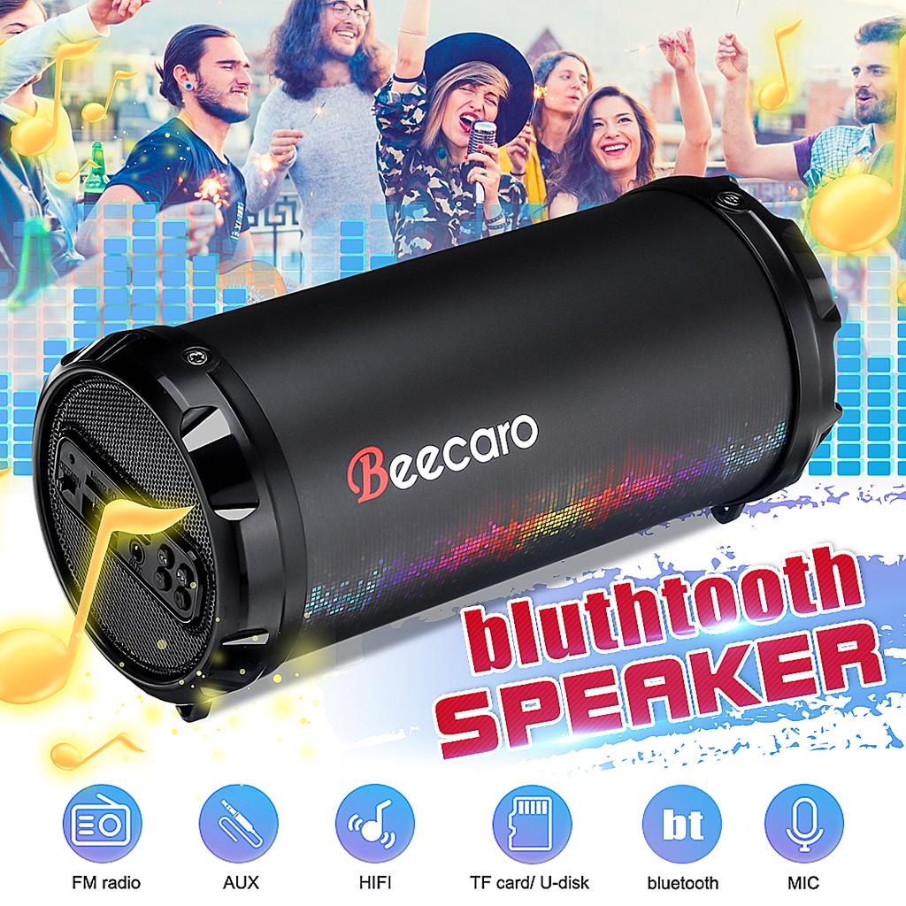 Beecaro Bluetooth Speaker Column Wireless Portable Sound Box Bass Stereo Aux Usb Tf Fm Support Built In 1500mah Battery Buy From 35 On Joom E Commerce Platform
