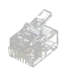 20 pcs 6p2c 2 pins rj11 modular plug network cable connector clear [ 1024 x 1024 Pixel ]