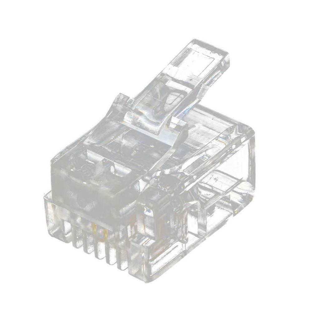 hight resolution of 20 pcs 6p2c 2 pins rj11 modular plug network cable connector clear