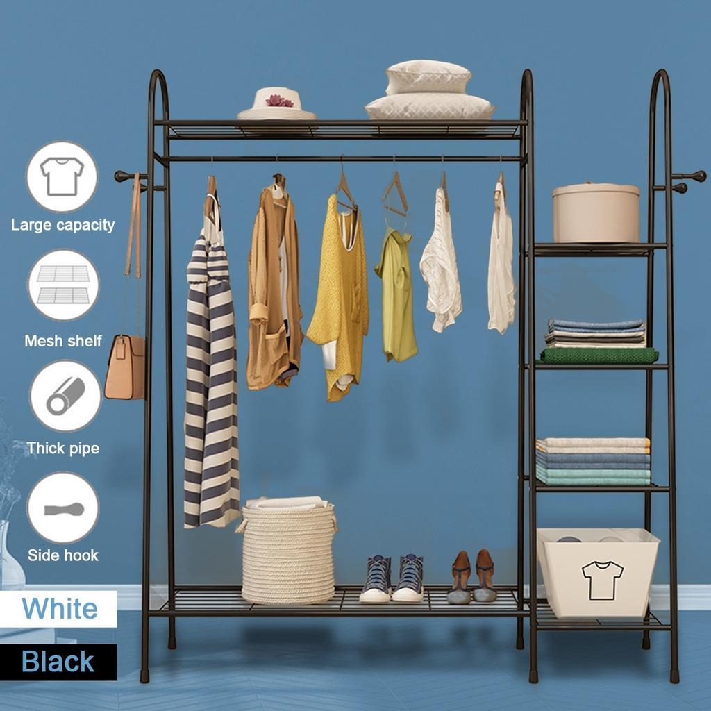 metal closet system storage organizer garment rack cloth hanger dry shelf stand