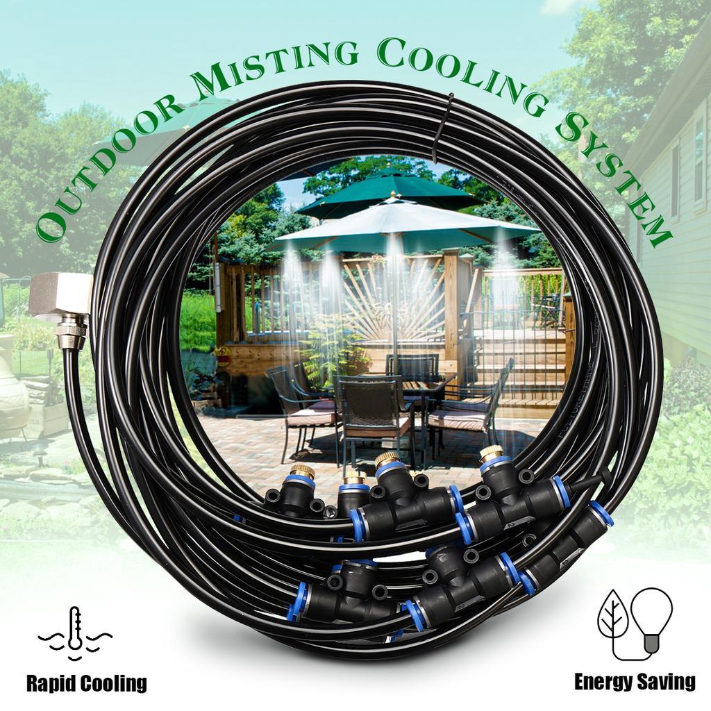 8m outdoor water sprinkler garden mister cooling patio misting system spray set buy at a low prices on joom e commerce platform