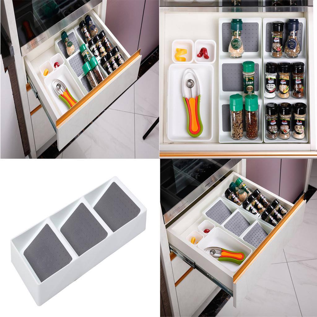plastic spice rack drawer organizer for kitchen cabinet drawers 3 slanted tiers buy at a low prices on joom e commerce platform