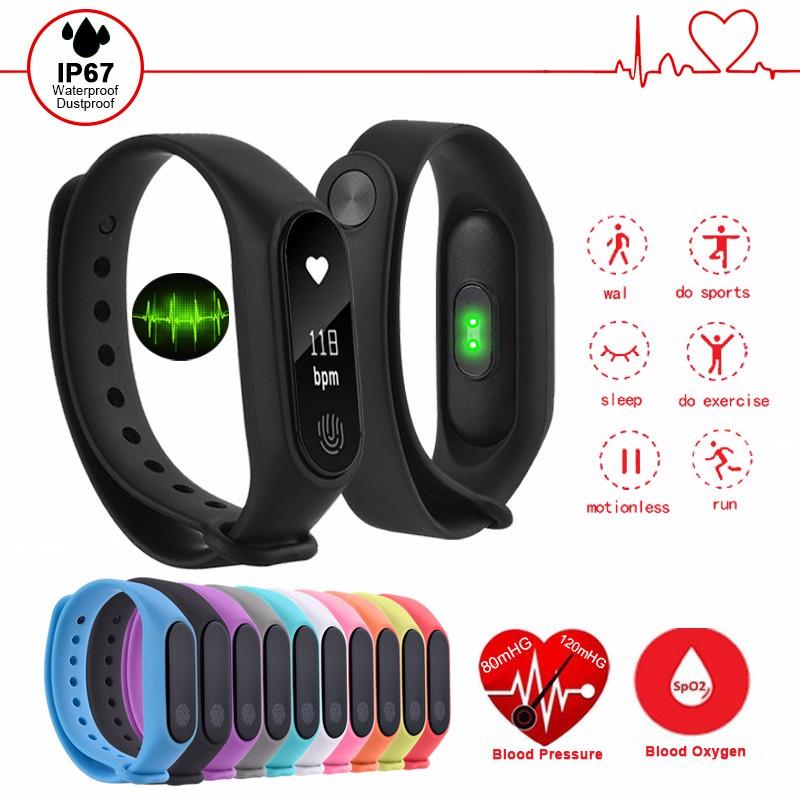 waterproof fitness bracelet smart wristband heart rate blood pressure monitor for android ios