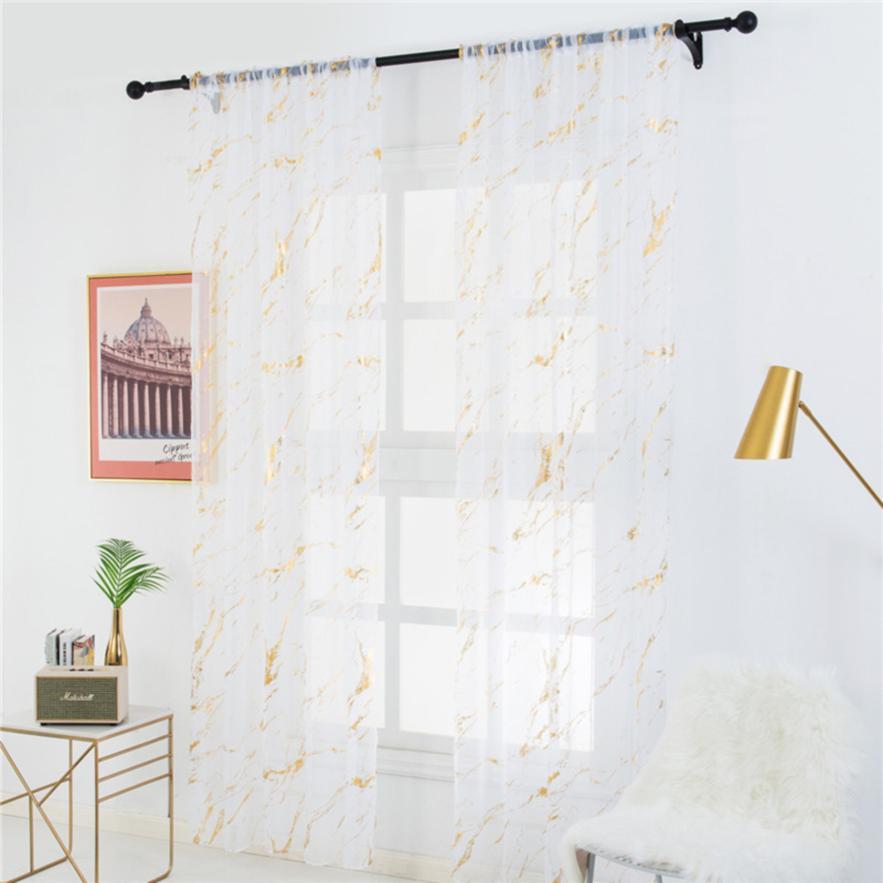 living room window patio door sheer curtains marble print window screen curtains