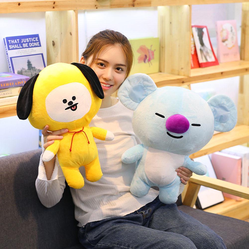 kpop bts bt21 bangtan boys plush cushion stuffed toy dolls tata cooky chimmy shooky mang koya