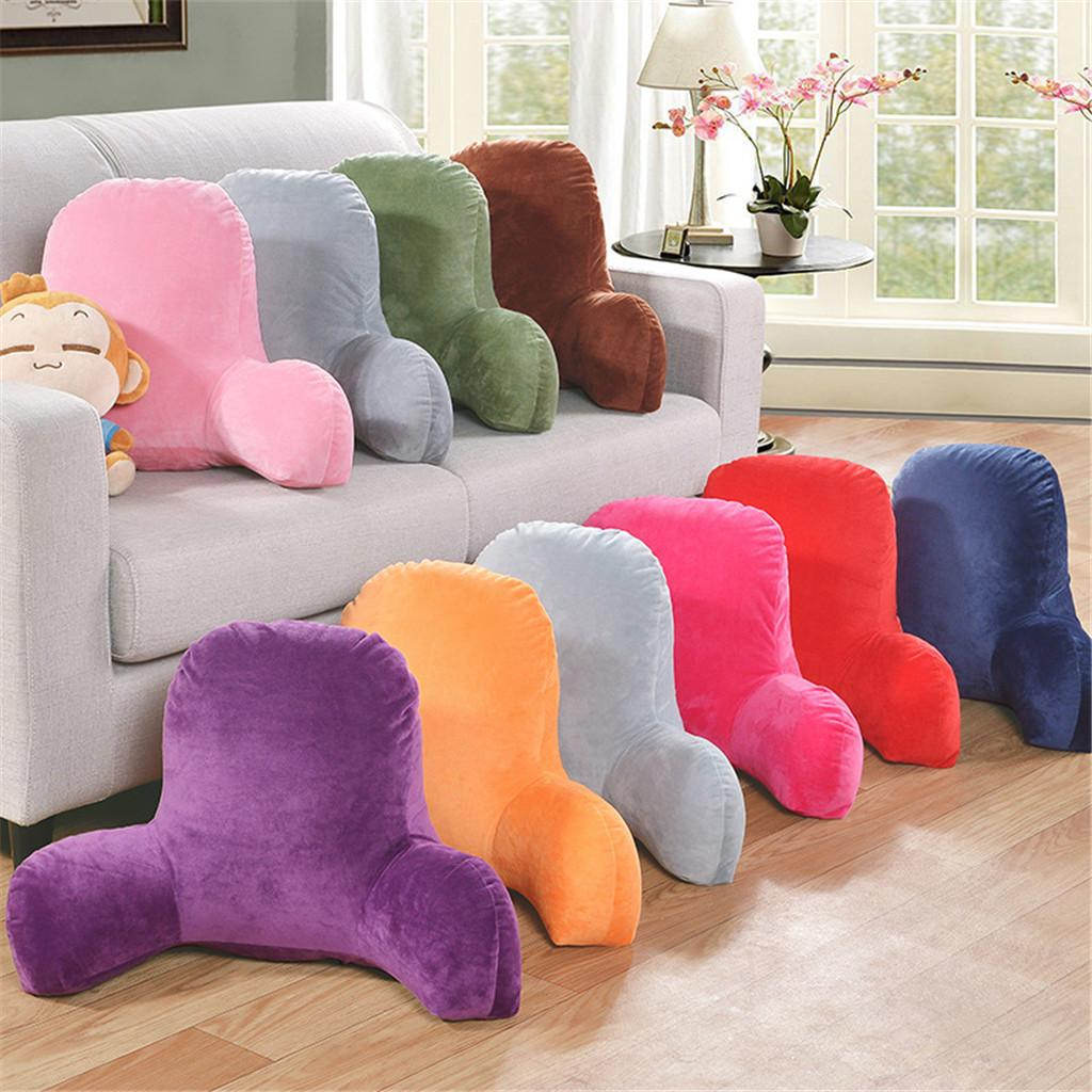 plush big backrest reading rest pillow lumbar support chair cushion with arms buy at a low prices on joom e commerce platform