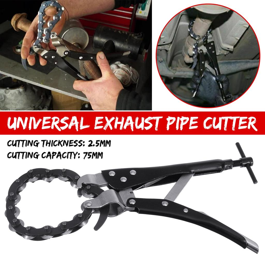 car exhaust muffler tail pipe cutter cut off tool chain remove cutting wheels carbon steel exhaust pipe cutter pliers