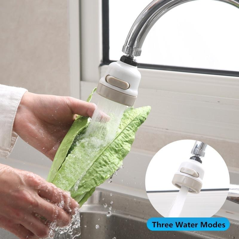 three speed adjustment 360 rotating faucet booster kitchen faucet water filter nozzle water saver