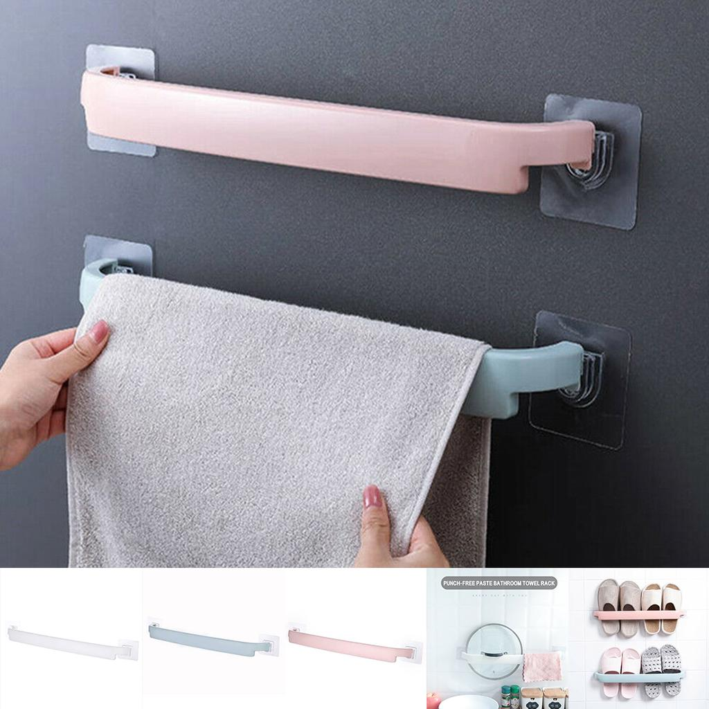 pdtoweb bathroom wall mounted towel rail rack holder self adhesive hanging hanger shelf buy at a low prices on joom e commerce platform