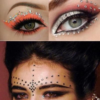 Joya los ojos maquillaje cristal ojos etiqueta diamante maquillaje ...