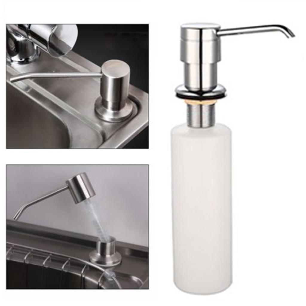 kitchen sink built in white liquid soap dispenser lotion pump cover countertop buy at a low prices on joom e commerce platform