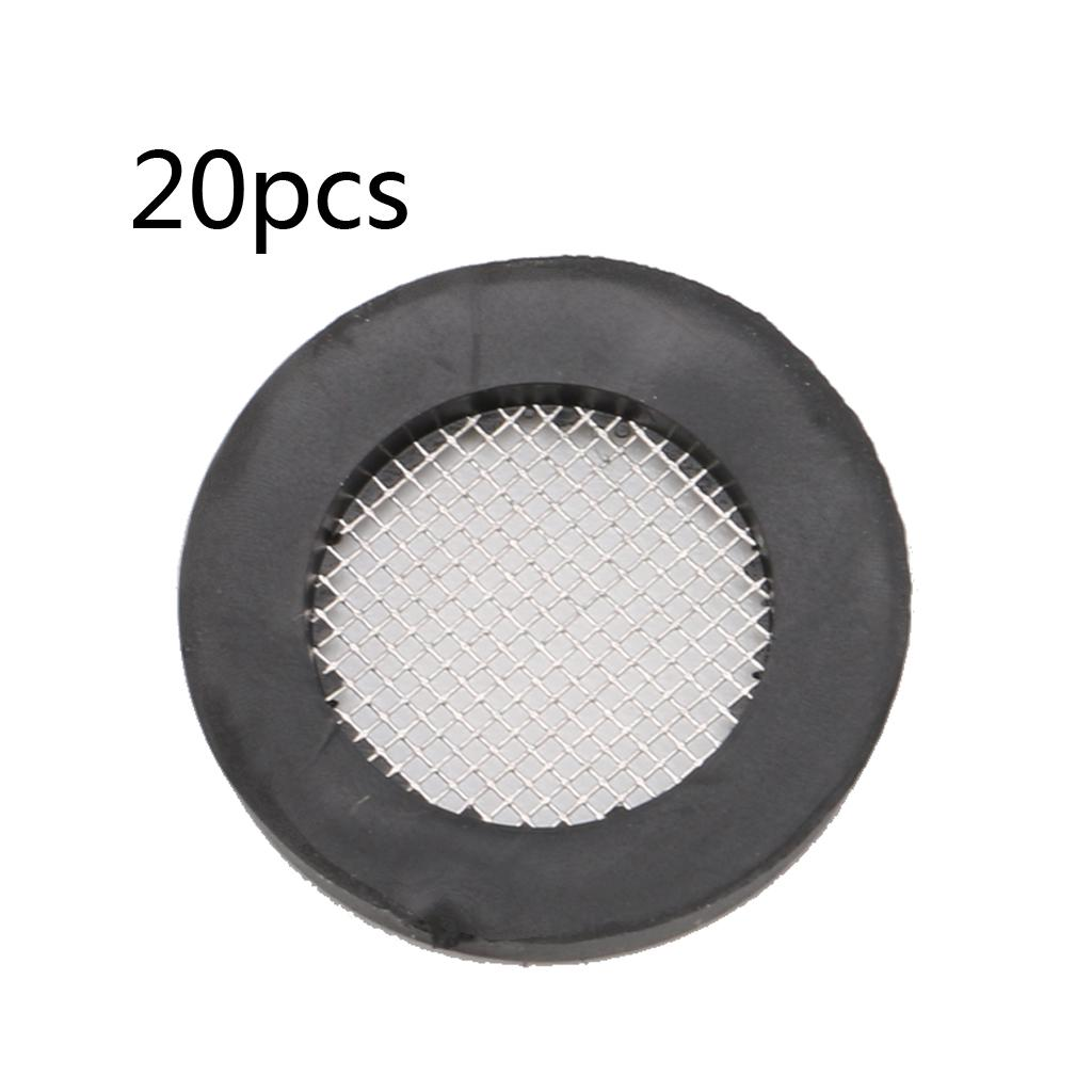 20pcs seal o ring hose gasket flat rubber washer filter net for faucet grommet