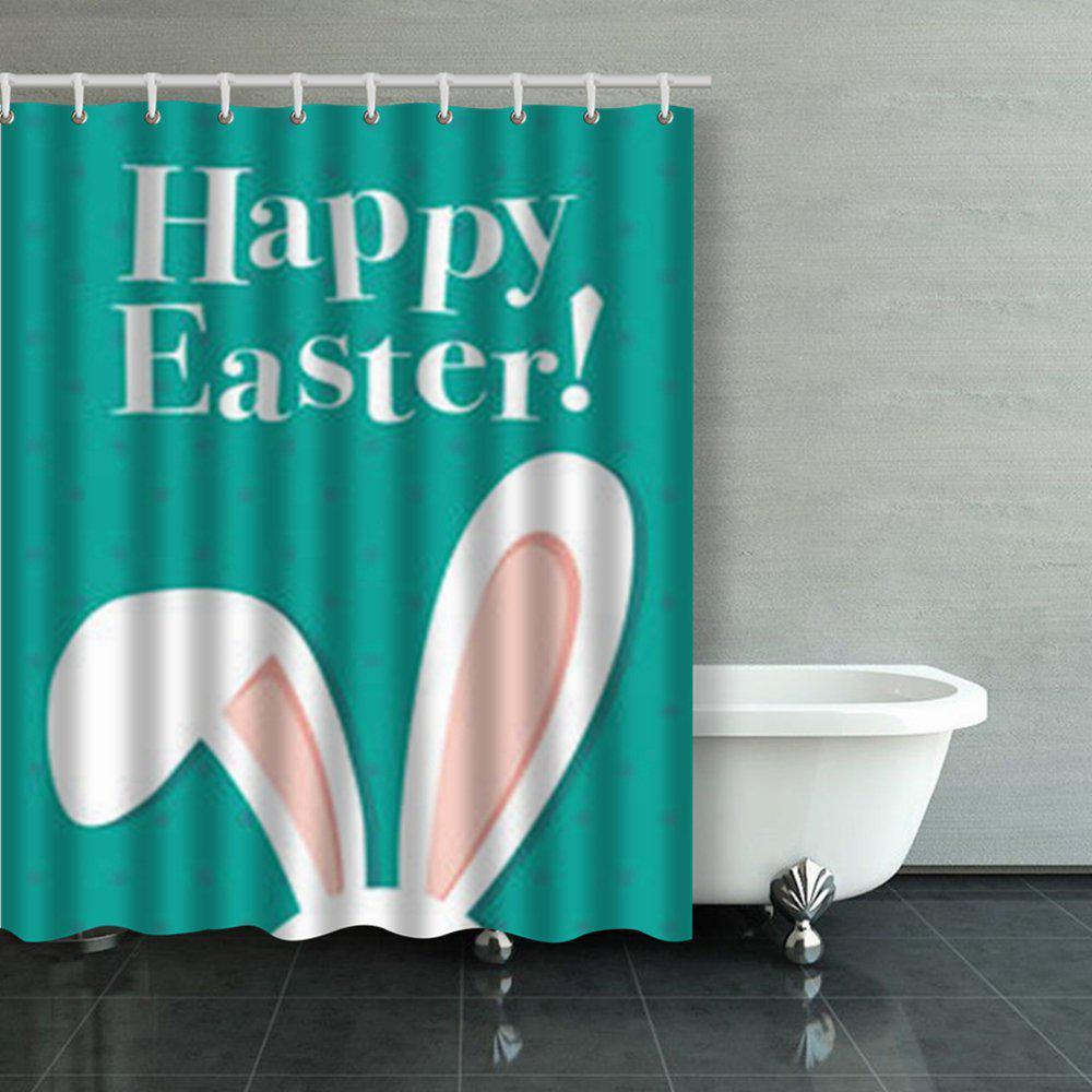 happy easter poster bunny ears vintage bunnies shower curtains bathroom curtain 60x72inch 150x180cm