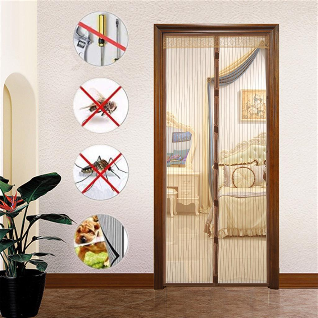large magnetic mosquito door screen magi c mesh nets anti bugs insect curtain