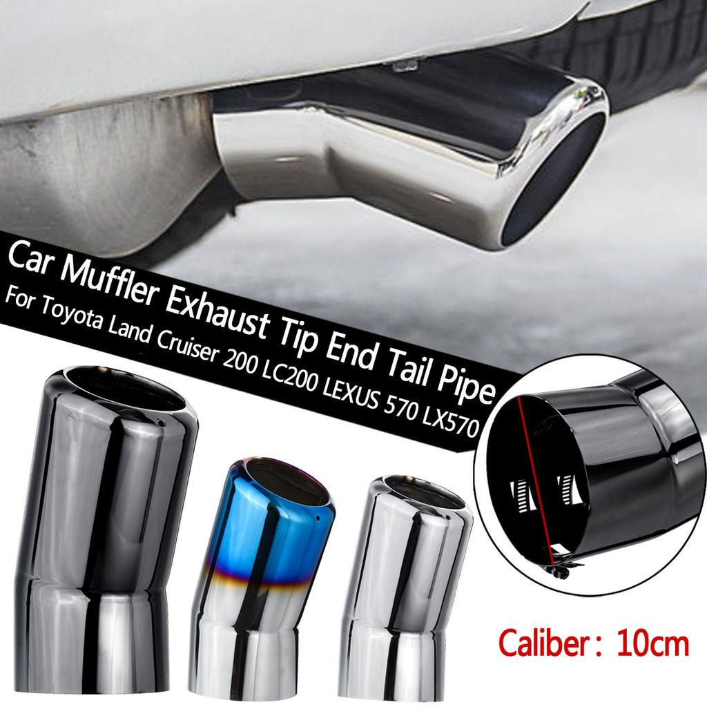 stainless steel tail exhaust muffler tip pipe for toyota land cruiser 200 lexus 570 lx570 10cm buy at a low prices on joom e commerce platform