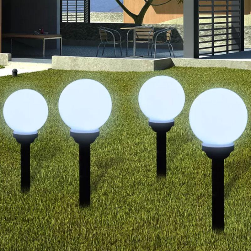 waterproof led solar lamp round bulb lawn lamps spike light round shape outdoor landscape lawn light buy at a low prices on joom e commerce platform