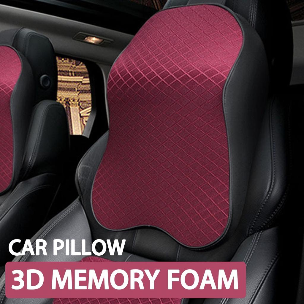 car neck pillow 3d memory foam car neck pillow head rest soft breathable seat cushion headrest pad