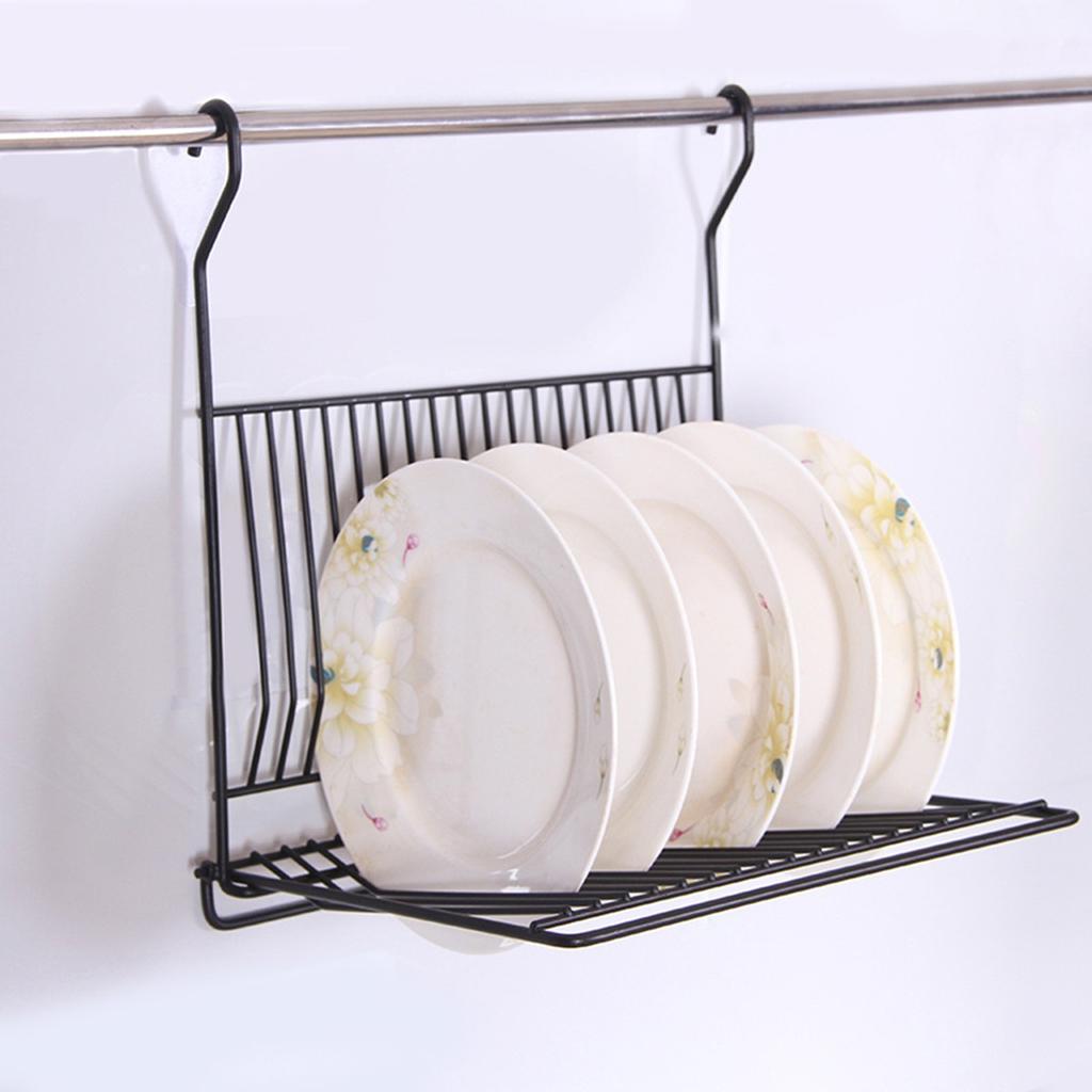 no drill foldable kitchen black wall hanging dish storage shelf organizer rack holder buy at a low prices on joom e commerce platform