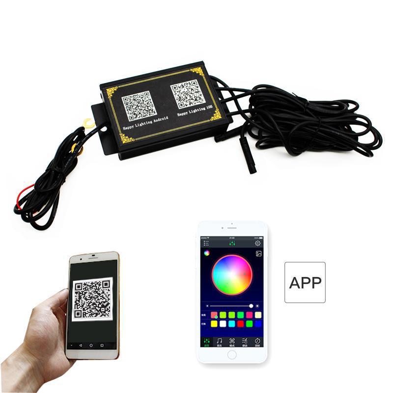 smartphone remote rgb angel eye halo ring marker bulbs for bmw f30 f31 3 series hid adaptive