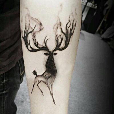 1pc Impermeable Tatuajes Temporales Etiqueta Alces Venados Bucks