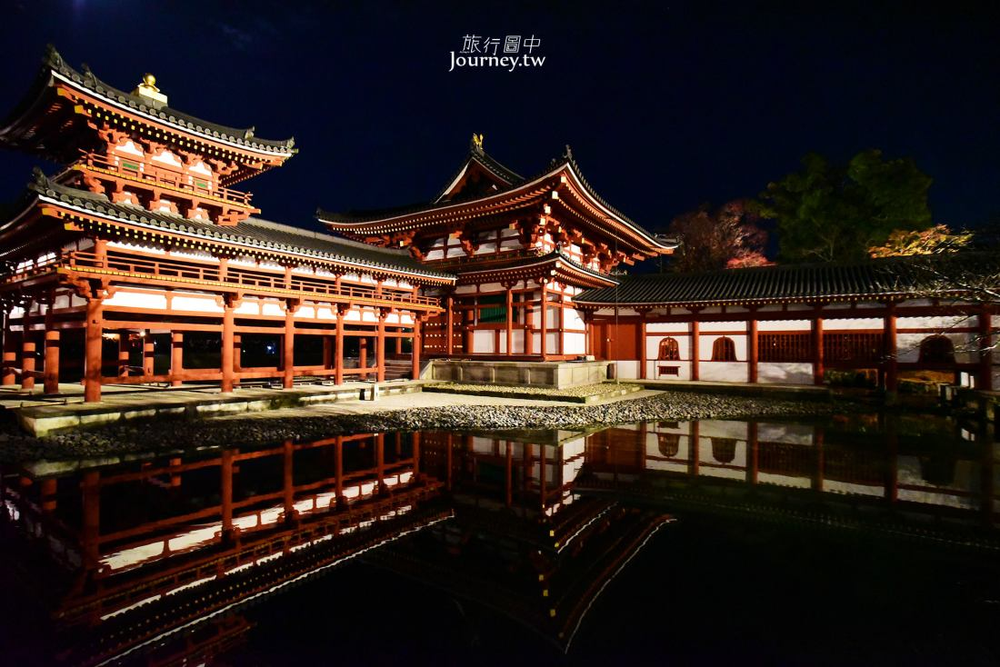 日本,京都,宇治,世界遺產,平等院,鳳凰堂,夜景