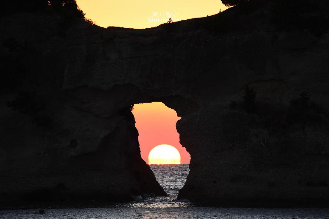 日本,和歌山,白浜,圓月島,夕陽,日本夕日百選