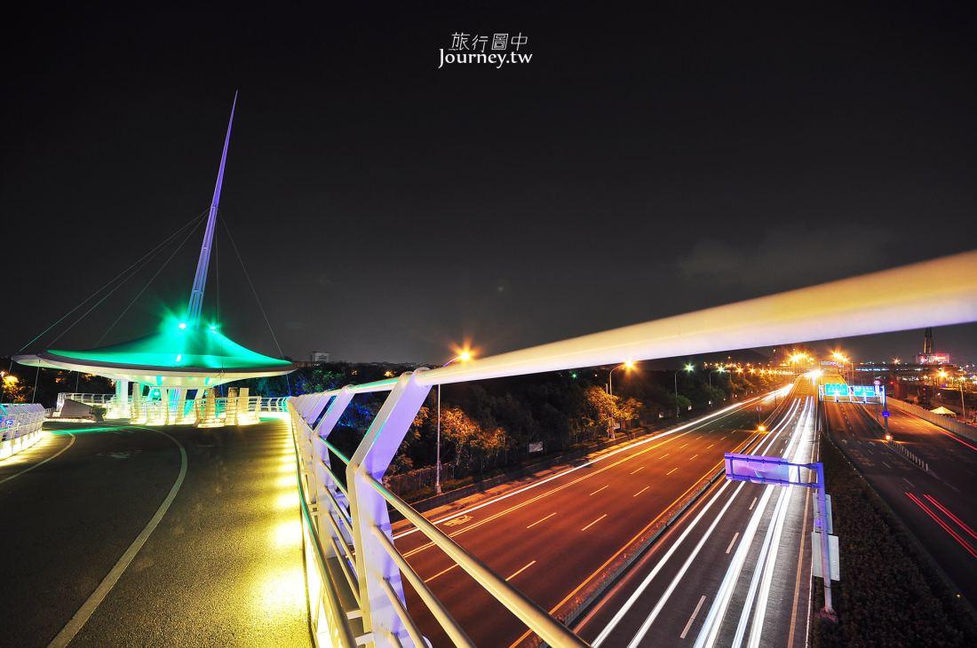 高雄,左營,夜景,翠華自行車橋