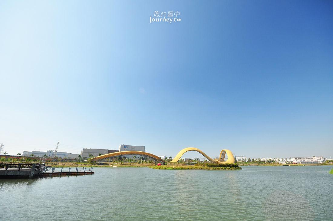 台南,新市,南科地標,迎曦湖,黃絲帶