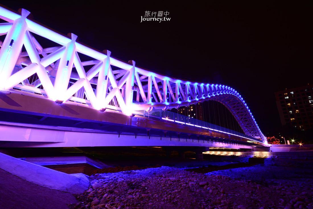 台中,北屯,大坑,海天橋,夜景