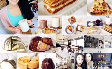 [法式。甜點] 114 Cafe x Bonjour ma chérie ♥ 新開幕質感咖啡廳 先生小姐向你說聲早安的幸福滋味! 超人氣千層派 下午茶 檸檬塔 香蕉牛奶糖塔 (東區/捷運忠孝復興站) ♥ JoyceWu。食記