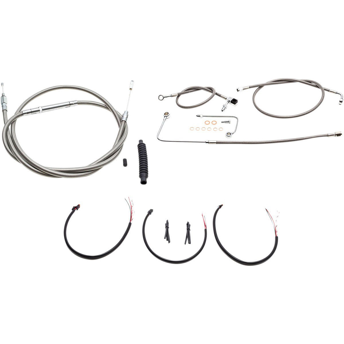 LA Choppers Stainless Complete Cable/Line/Wiring Handlebar