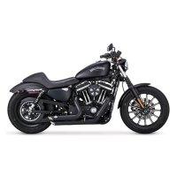 Vance & Hines Shortshots Staggered Exhaust Black | 103-378 ...