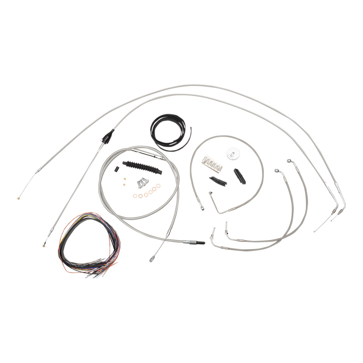 hight resolution of la choppers stainless complete cable line wiring handlebar kit for 12 14