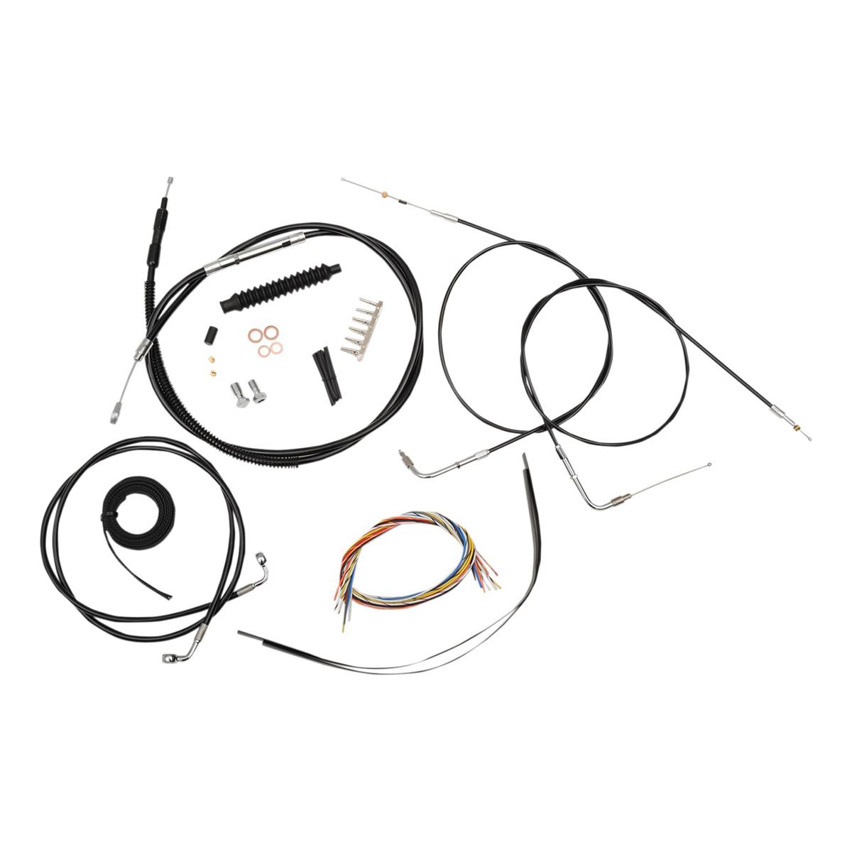 La Choppers Black Complete Cable Line Wiring Handlebar Kit For Mini Ape Bars