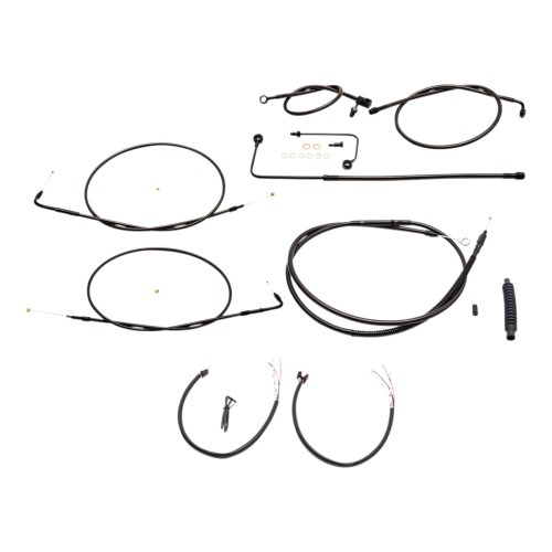 small resolution of la choppers midnight complete cable line wiring handlebar kit for mini ape bars on