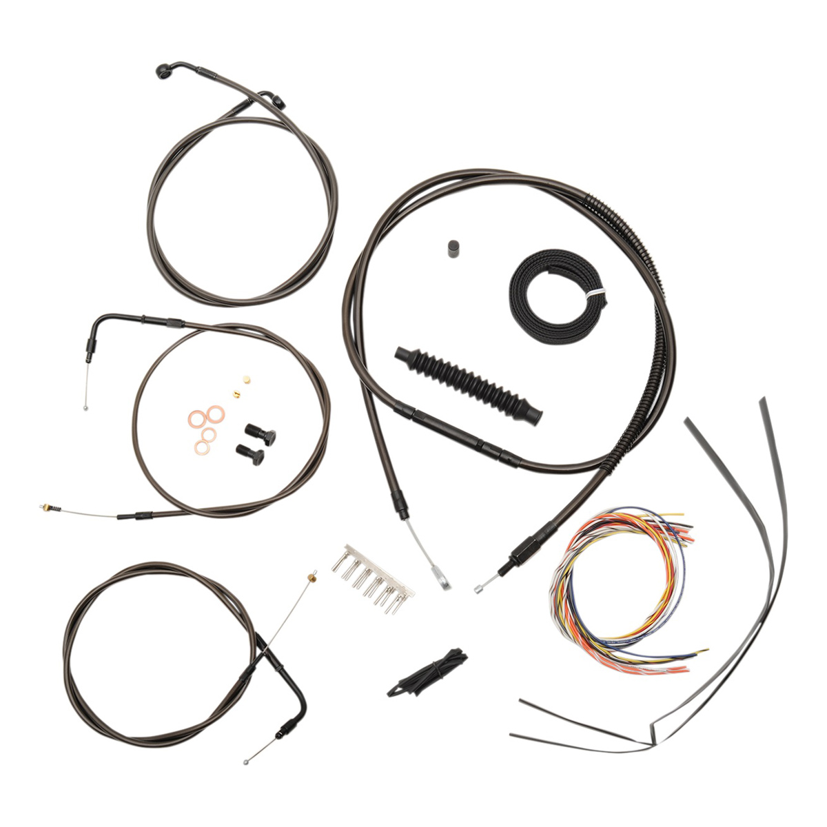 La Choppers Midnight Complete Cable Line Wiring Handlebar Kit For 15 17 Bars On Models Without