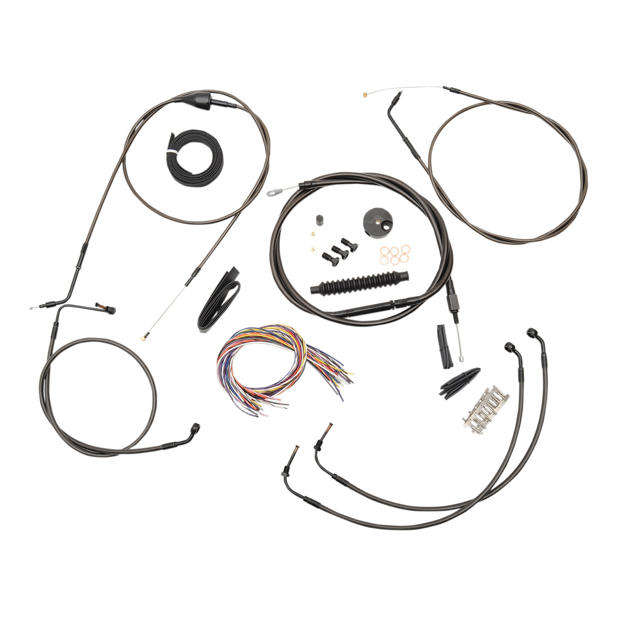 La Choppers Midnight Complete Cable Line Wiring Handlebar Kit For 12 14 Bars