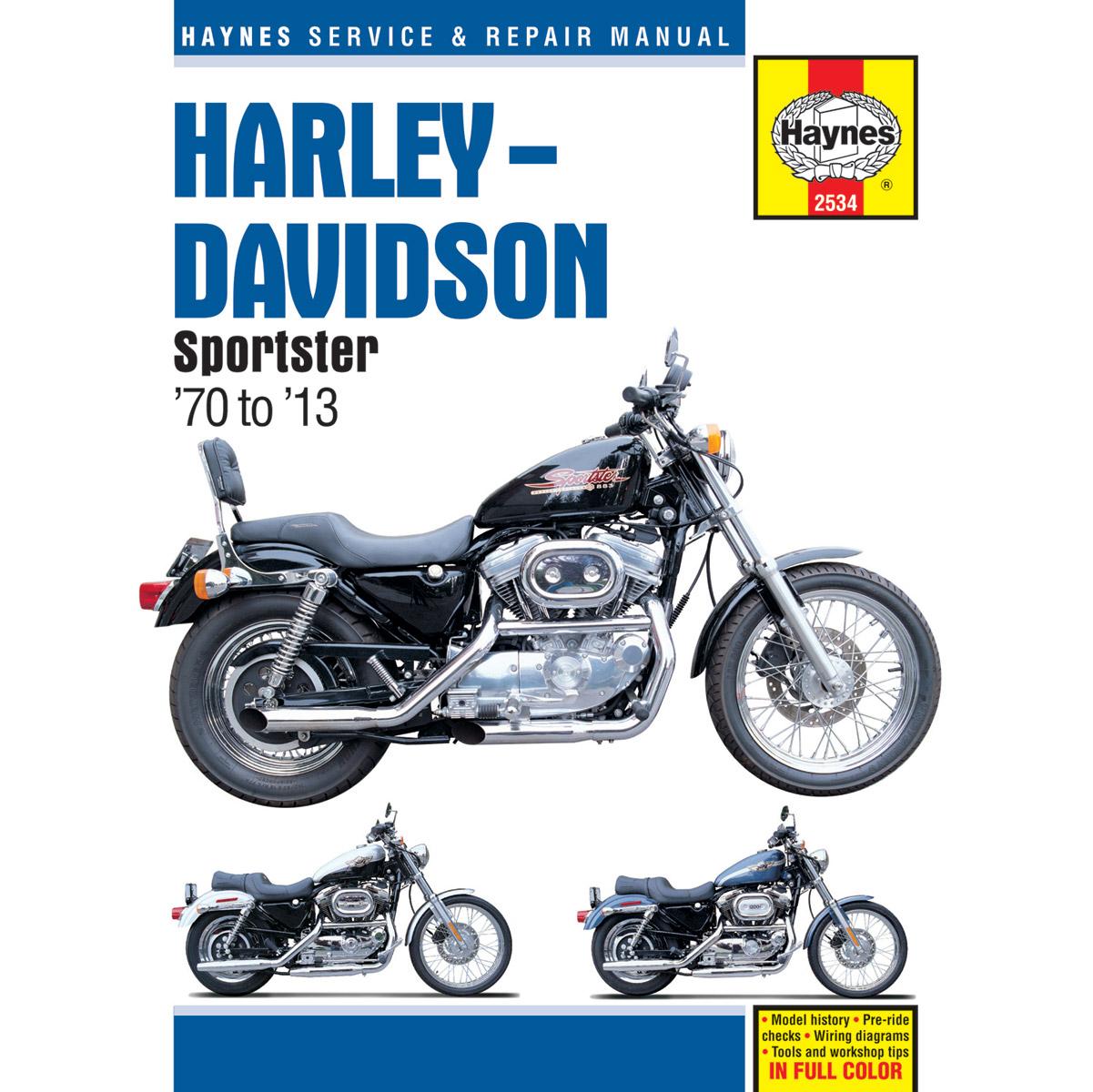 hight resolution of  wiring harness diagram haynes 1970 2013 sportster manual 2534 jpcycles com on harley davidson