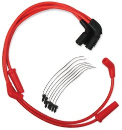 accel red s s 8mm spiral core wire set [ 1200 x 1200 Pixel ]