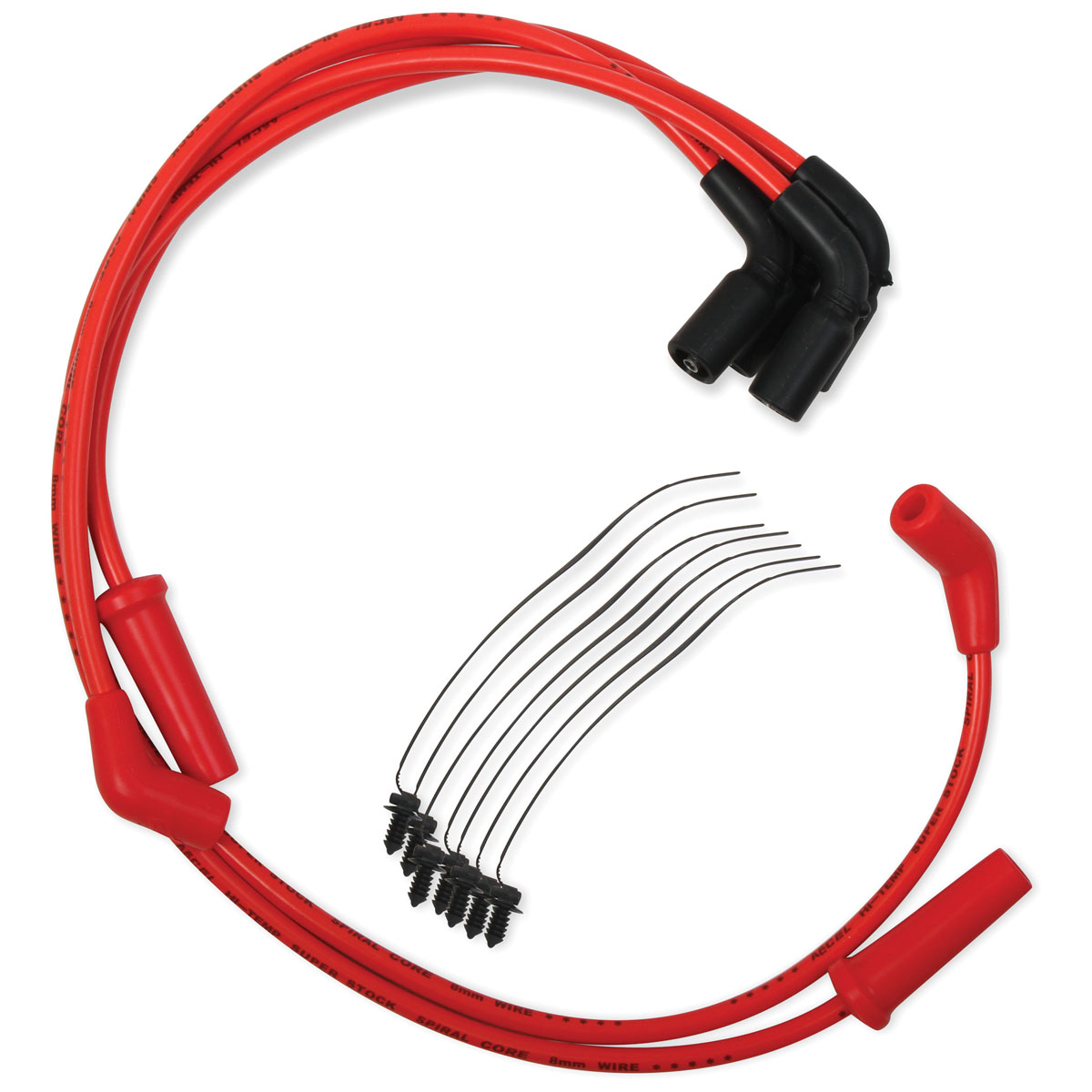 hight resolution of accel red s s 8mm spiral core wire set