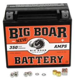 motorcycle batteries motorcycle electrical parts j p cycles big boar battery mga subassembly wiring [ 1201 x 1200 Pixel ]
