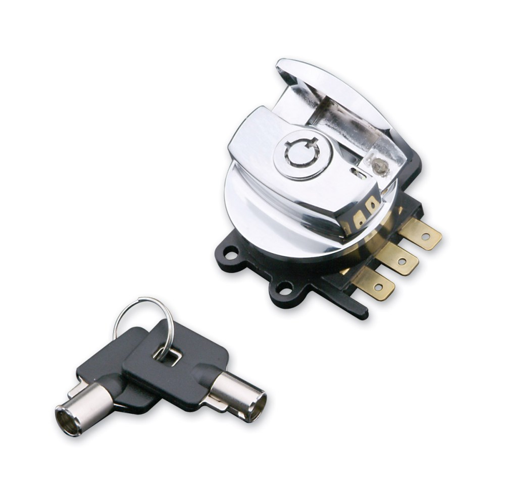 medium resolution of j p cycles chrome side hinge ignition switch