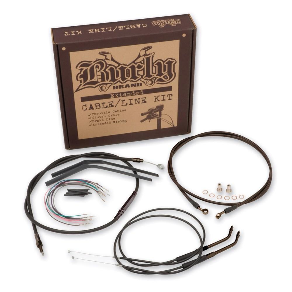 medium resolution of burly brand black 14 ape hanger cable brake wiring kit