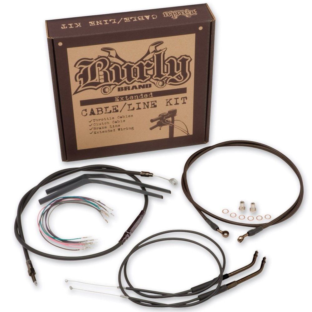 medium resolution of burly brand black 16 ape hanger cable brake kit