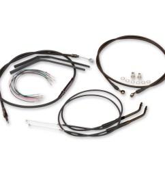 burly brand black 14 ape hanger cable brake kit [ 1201 x 1200 Pixel ]