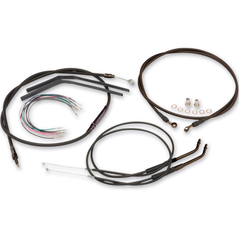 medium resolution of burly brand black 14 ape hanger cable brake kit