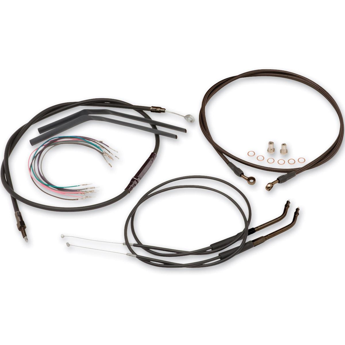 hight resolution of burly brand black 14 ape hanger cable brake kit