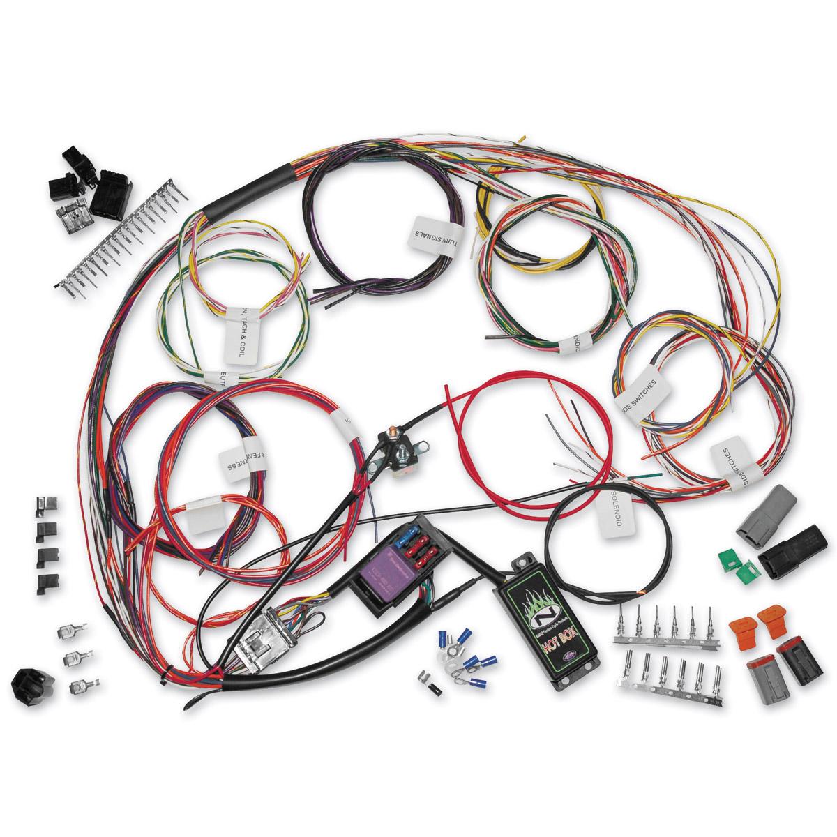 NAMZ Custom Cycle Complete Bike Wiring Harness Kit 745 072 J&P