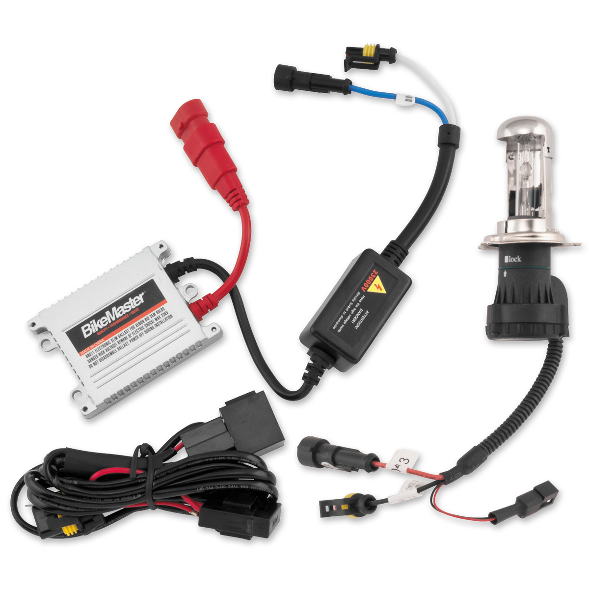 hight resolution of bikemaster hid light kits 6000k h7 white bulb